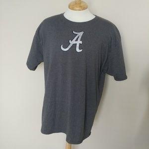 Alabama Crimson Tide Tee XL Grey Silver Glitter A